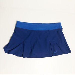 Nike Dri-fit Tennis Skirt Skort Large Pleated Blue